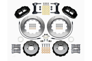 Wilwood FNSL6R 14in Front Kit Black - Subaru Models (inc. 2002-2014 WRX / 2004+ STI)