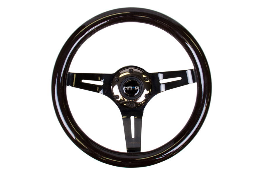 NRG Classic Wood Grain Wheel 310mm Black Chrome - Universal