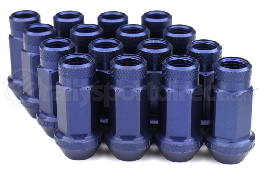 Password JDM Blue Lug Nuts Open Ended 16pc 12x1.25 - Universal