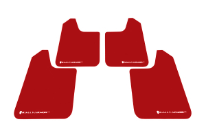 Rally Armor Universal UR Mudflaps Red Urethane White Logo (Part Number: )