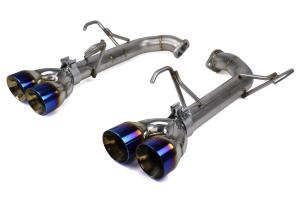 FactionFab Axle Back Exhaust w/ Burnt Tips - Subaru WRX 2015-2021 / STI 2015-2018