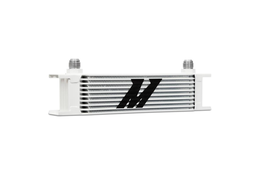 Mishimoto Universal 10 Row Oil Cooler White - Universal