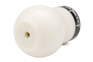 Boomba Racing White Delrin Shift Knob w/Black Trim (Part Number: )