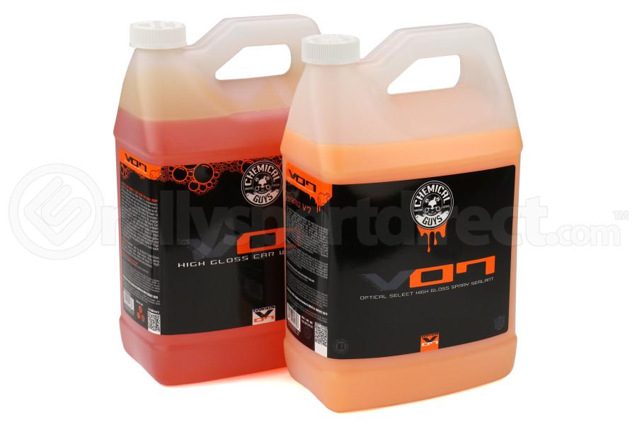 Chemical Guys Hybrid V7 Car Wash Soap and Hybrid V7 Optical Select Quick Detail Spray Kit Gallon - Universal