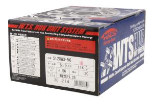 KICS Wide Tread Spacers 20mm 5x114 w/ Hub Rings (Part Number: )