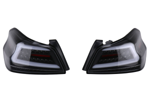 Spec-D Sequential LED Tail Lights Black Housing w/ Clear Lens - Subaru WRX / STI 2015 - 2020