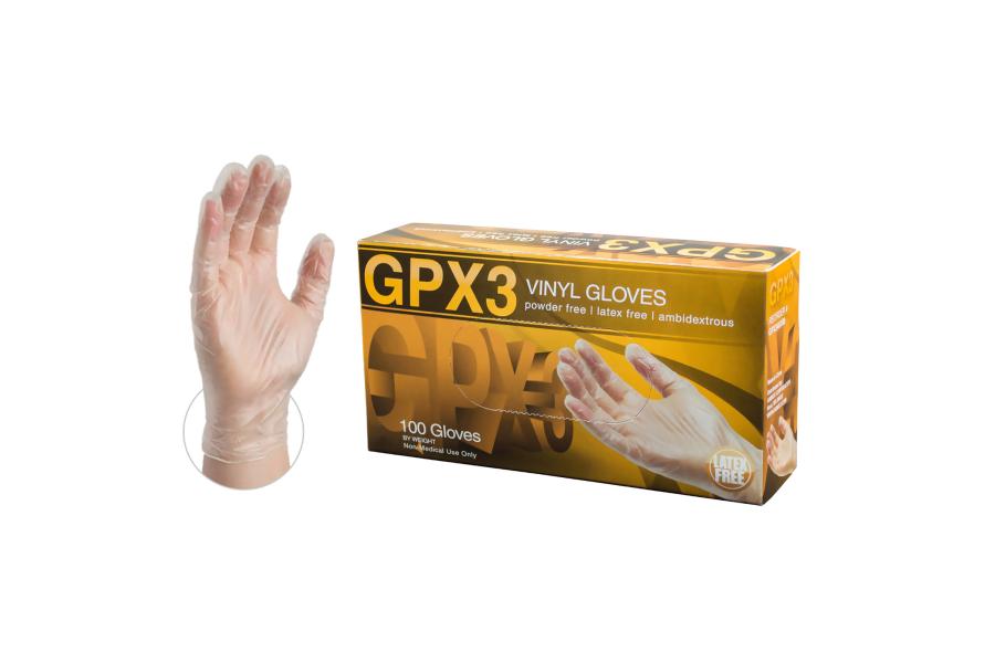 Ammex GPX3 Clear Vinyl Gloves - Universal