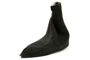 AutoStyled Black Microsuede E-Brake Boot w/ Red Stitching (Part Number: )