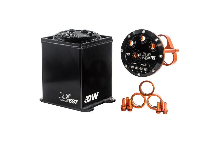 DeatschWerks 5.5L Staged Surge Tank (w/ Pump Options) - Universal