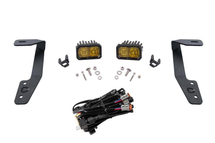 Diode Dynamics Stage Series 2 Inch Ditch Light Kit Sport Yellow Combo - Subaru Crosstrek 2018-2020