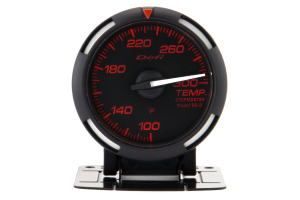 Defi Red Racer Temperature Gauge Imperial 52mm 100-300F White Needle ( Part Number: DF06707)