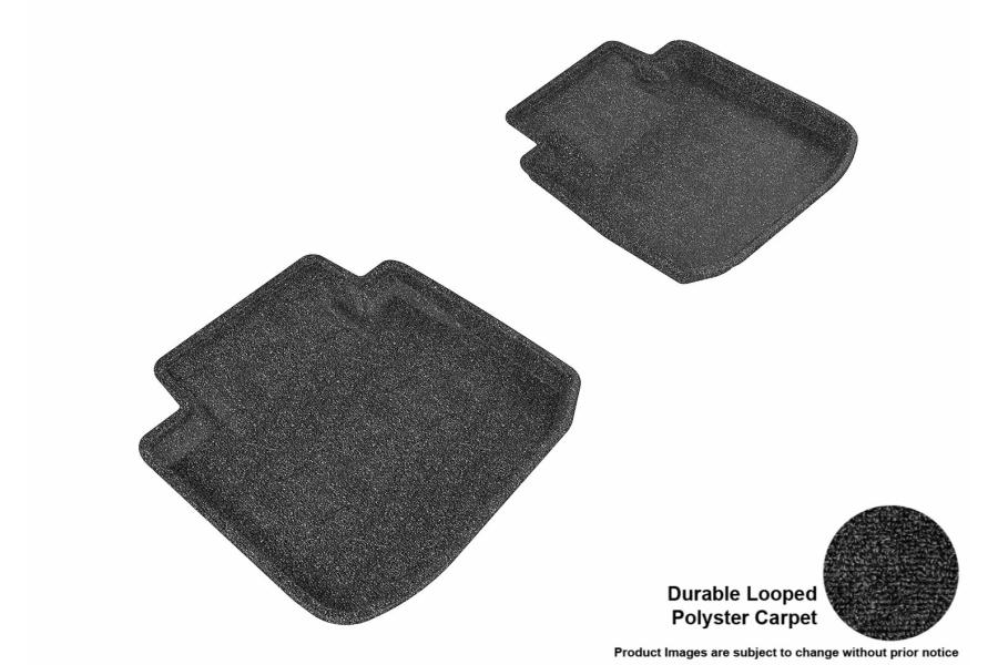 3D MAXpider Rear Classic Floor Mats Black - Subaru Legacy / Outback 2015 - 2018