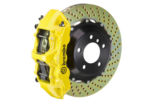 Brembo GT Systems Monobloc 6 Piston Front Big Brake Kit Yellow Drilled Rotors - Honda Civic Type R 2017+