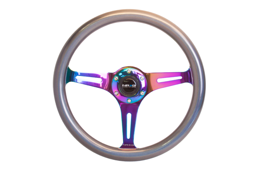 NRG Classic Wood Grain Wheel 350mm Neochrome / Pearlescent - Universal