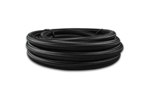 Vibrant Performance Nylon Braided Flex Hose -8AN Black - Universal