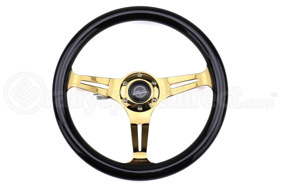 NRG Classic Wood Grain Wheel 350mm Chrome Gold / Black - Universal