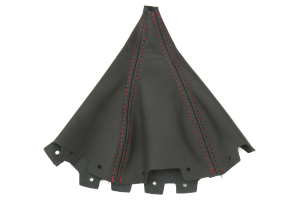 AutoStyled Black Leather Shift Boot w/ Red Stitching Short Shifter ( Part Number:ASA 1304030101)