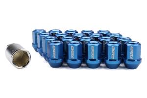 Volk Racing Dura-Nut L32 Straight Type M12X1.50 Lock and Nut Set Blue ( Part Number: WDURA3212150U)