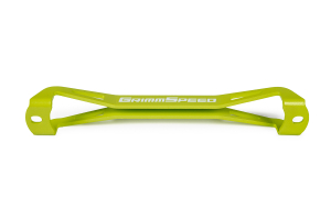 GrimmSpeed Lightweight Battery Tie Down Neon Green - Subaru Models (inc. 2002+ WRX/STI)
