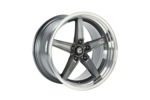 Cosmis Racing Wheels R5 18x10.5 +22 5x120 Gunmetal w/ Machined Lip - Universal