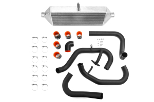 ETS Front Mount Intercooler Black Piping Silver Core ( Part Number:ETS 100-28WB)