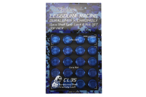 KICS Leggdura Racing Shell Type Lug Nut Set 35mm Closed-End Look 12X1.25 Blue - Universal