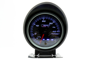 ProSport Boost Gauge Dual Displa w/Waterproof Sender Amber/White 60mm (Part Number: )