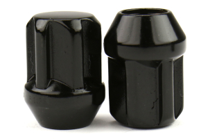Bull Lock Tuskey 12X1.25 Lock Nuts Black - Universal
