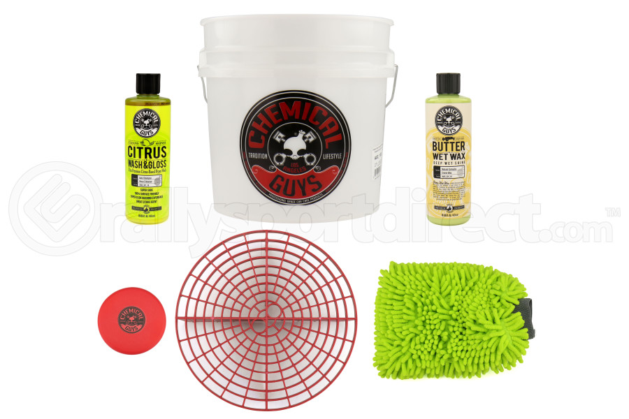 Chemical Guys Best Detailing Bucket Kit (6pc) Red - Universal