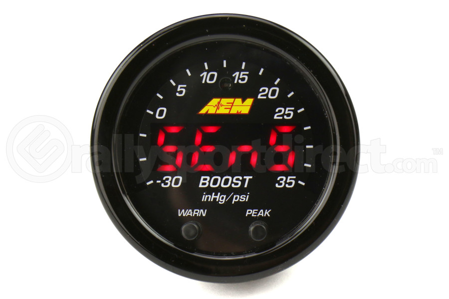 AEM Electronics X-Series Boost Gauge 52mm on
