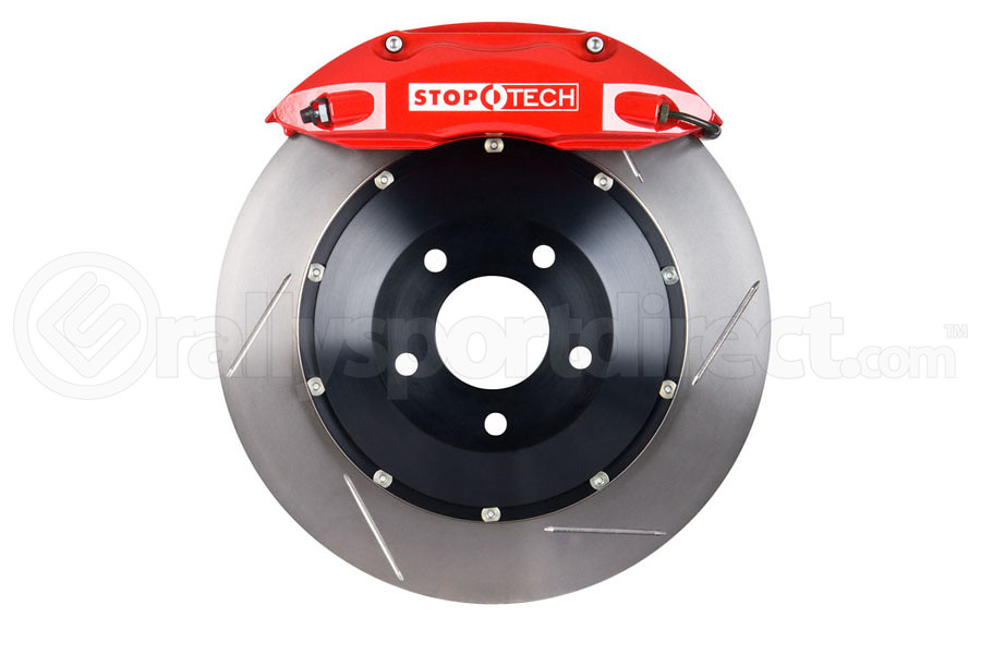 Stoptech ST-40 Big Brake Kit Front 355mm Red Slotted Rotors (Part Number:83.838.4700.71)