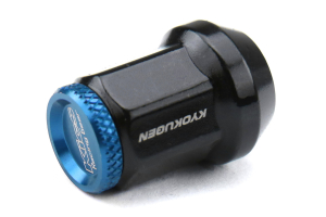 KICS Kyokugen Lug Nuts w/ Aluminum Cap 12x1.25 Black / Blue - Universal