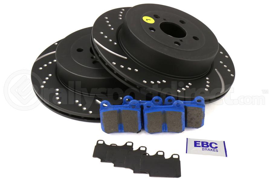 EBC Brakes S6 Rear Brake Kit Bluestuff Pads and 3GD Rotors - Subaru STi 2004