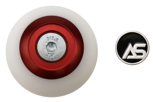 AutoStyled 6 Speed Shift Knob Red w/ White Delrin Center ( Part Number:ASA 1501010101)