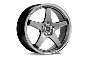 Enkei EV5 5x105 / 5x110 Hyper Black w/ Machined Lip - Universal