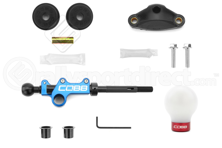 COBB Tuning Stage 1+ Drivetrain Package w/ White/Red Knob (Part Number:224X01P-W-RD)