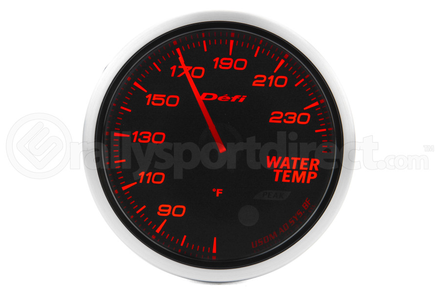 Defi Advance BF Amber Water Temperature Imperial 60mm Gauge (Part Number:DF10504)