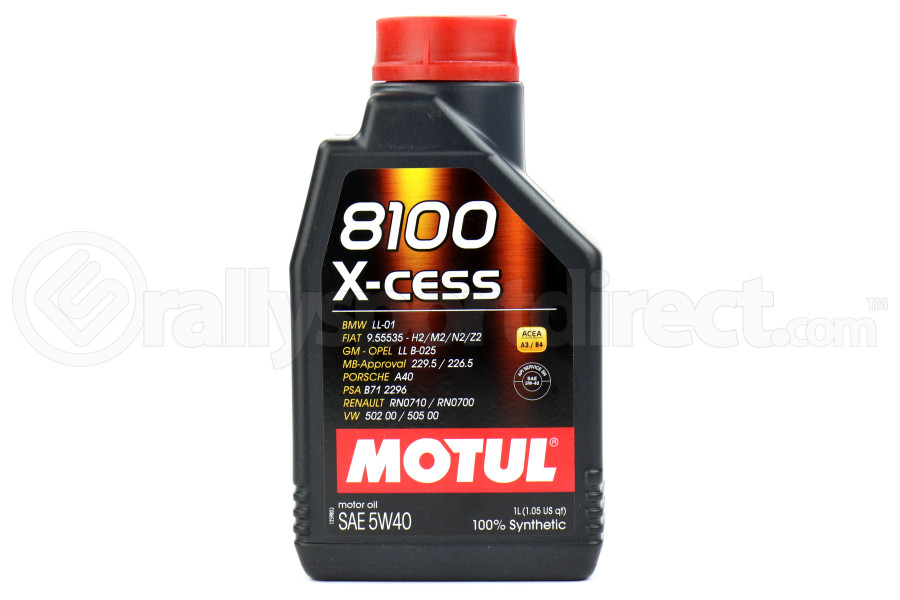 Motul 8100 X-Cess Engine Oil 5W40 1L (Part Number:102784)