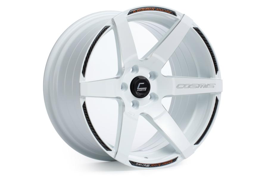 Cosmis Racing Wheels S1 18x10.5 +5 5x114.3 White w/ Milled Spokes - Universal