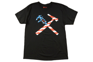 GrimmSpeed Torch and Caliper Flag T-Shirt Black - Universal