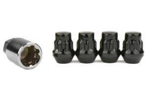 KICS Bull Lock Wheel Lock Set 19mm 12X1.25 Black - Universal