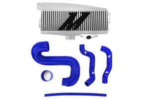 Mishimoto Silver Top Mount Intercooler w/ Blue Hoses (Part Number: )