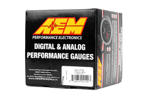 AEM Boost Gauge 35psi Analog 52mm (Part Number: )