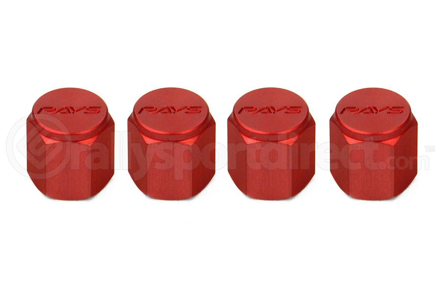 Volk Racing Rays Valve Stem Caps Red ( Part Number:VOL WVALRD2)