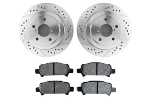 Hawk Performance Rotors w/ PC Pads Kit Rear (Part Number: HK5139.434Z)