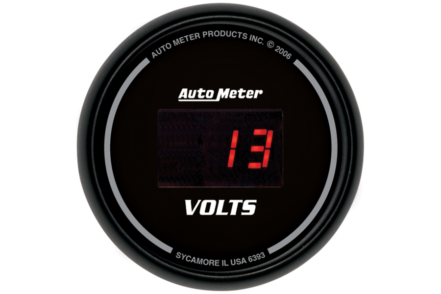 Autometer Sport-Comp Digital Voltmeter Gauge Red LED 52mm - Universal