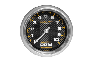 Autometer Carbon Fiber In-Dash Tachometer Gauge 3-3/8in - Universal