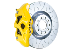 Brembo GT Systems Monobloc 4 Piston 345mm Slotted Yellow - Volkswagen Models (inc. 2006-2009 GTI)