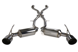 Invidia Dual N1 GT Cat Back Exhaust Stainless Steel Tips - Nissan 370Z 2009+