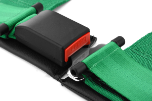 Takata Drift III 4-Point Harness Green Snap-On (Part Number: )